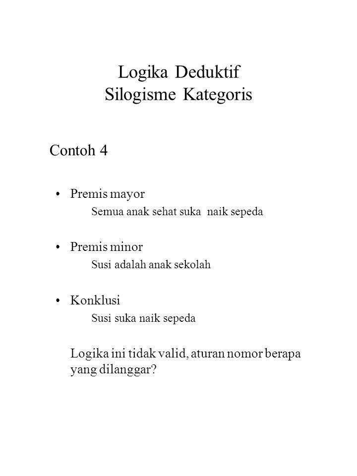 Logika Deduktif Silogisme Kategoris