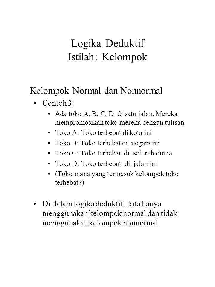 Logika Deduktif Istilah: Kelompok