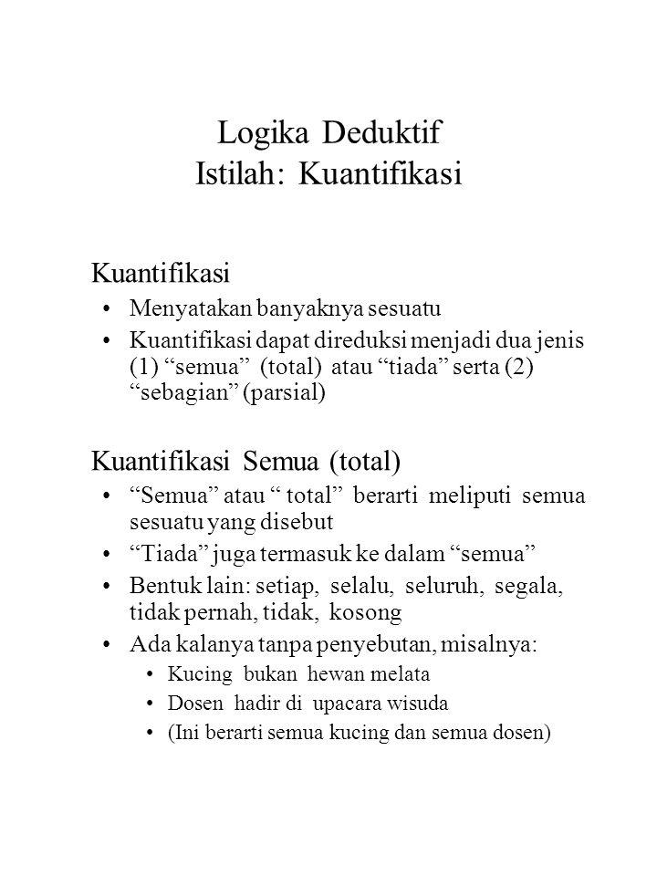 Logika Deduktif Istilah: Kuantifikasi
