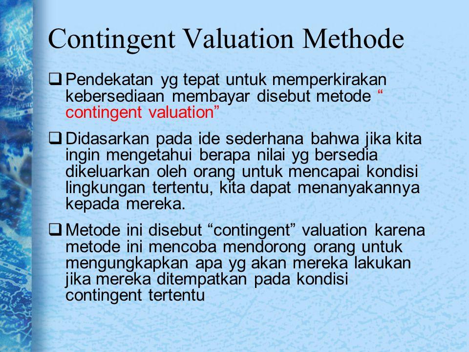 Contingent Valuation Methode