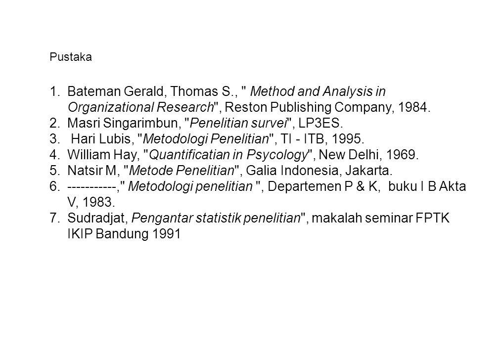 Masri Singarimbun, Penelitian survei , LP3ES.
