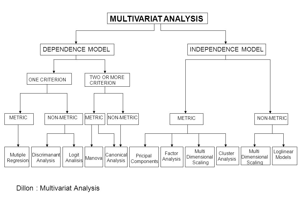 MULTIVARIAT ANALYSIS Dillon : Multivariat Analysis DEPENDENCE MODEL