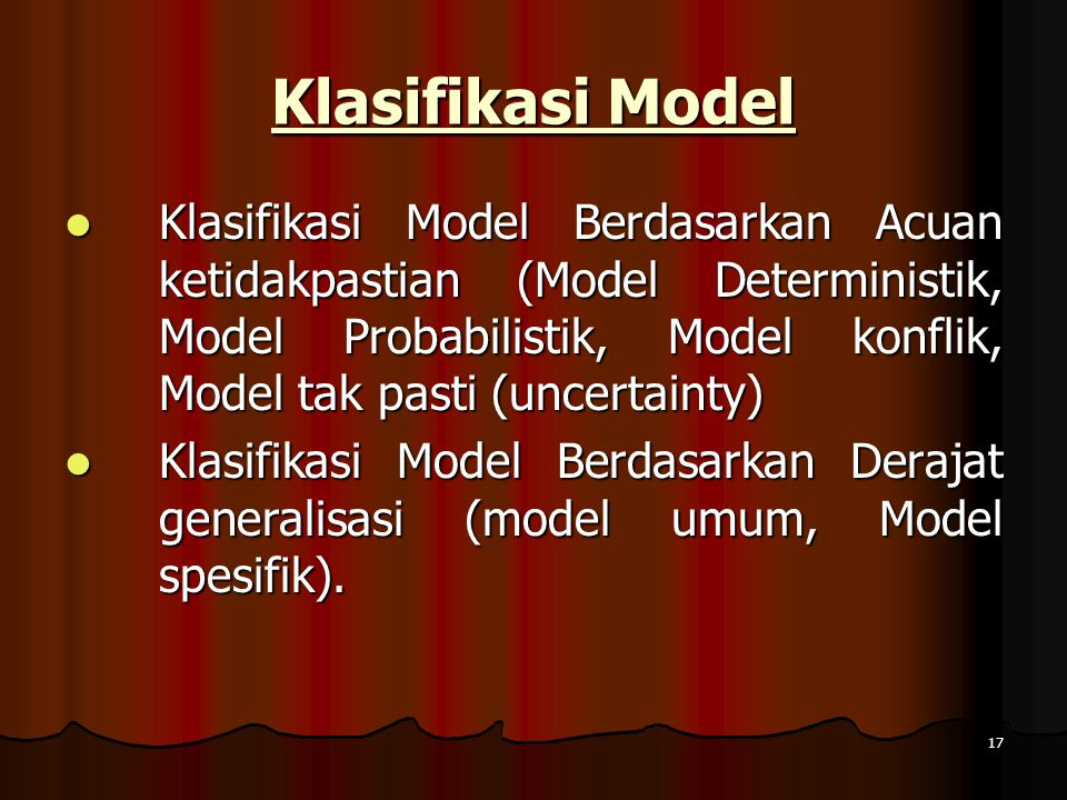 Klasifikasi Model