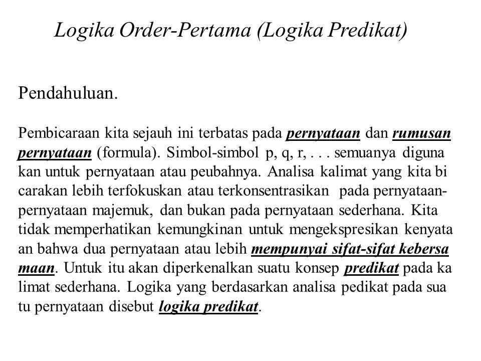 Logika Order-Pertama (Logika Predikat)