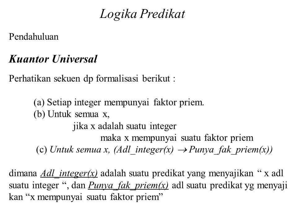 Logika Predikat Kuantor Universal Pendahuluan