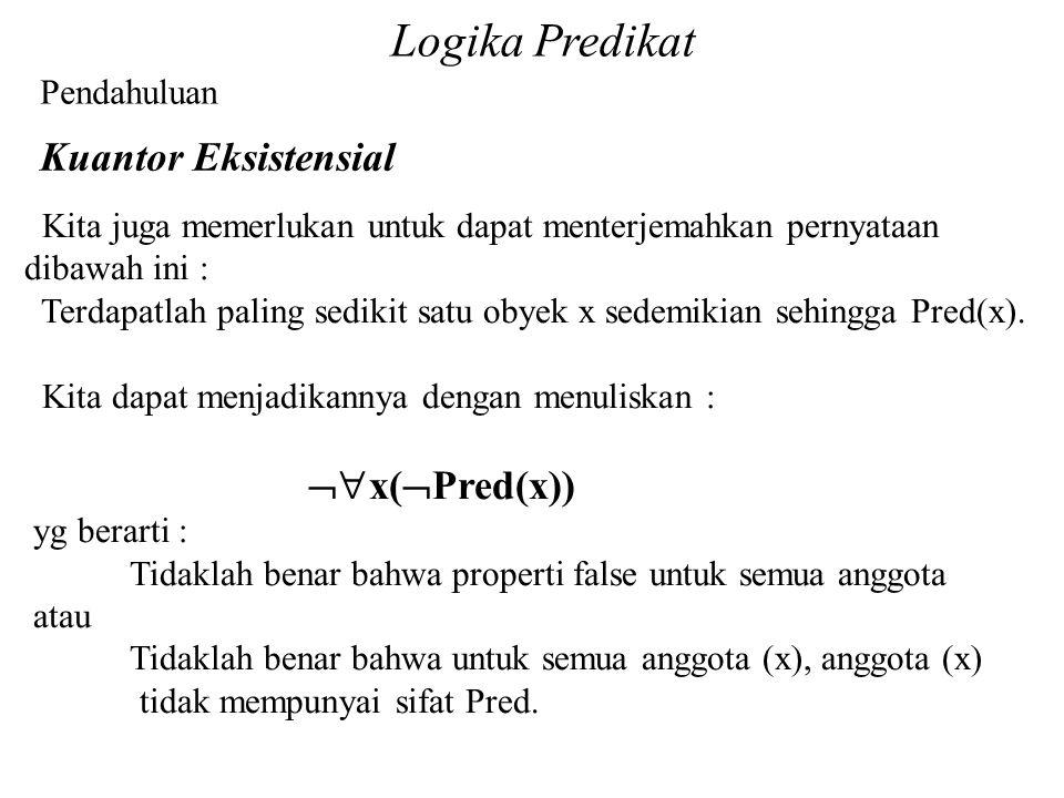 Logika Predikat Kuantor Eksistensial Pendahuluan