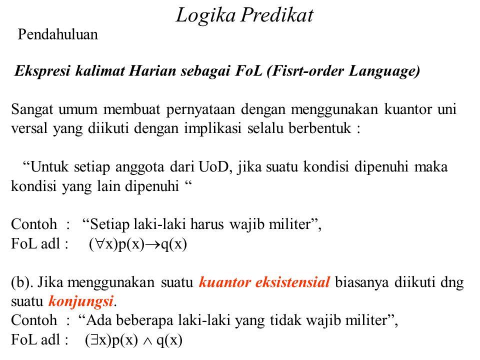 Logika Predikat Pendahuluan