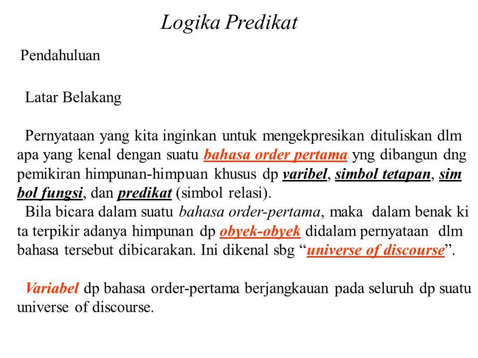Logika Predikat Pendahuluan Latar Belakang
