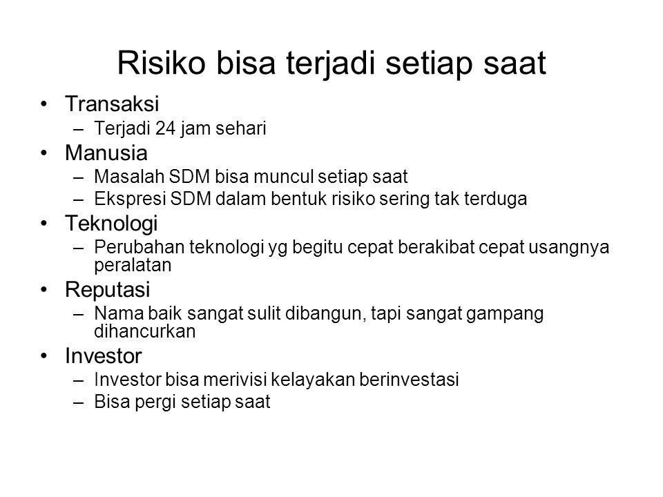 Risiko bisa terjadi setiap saat