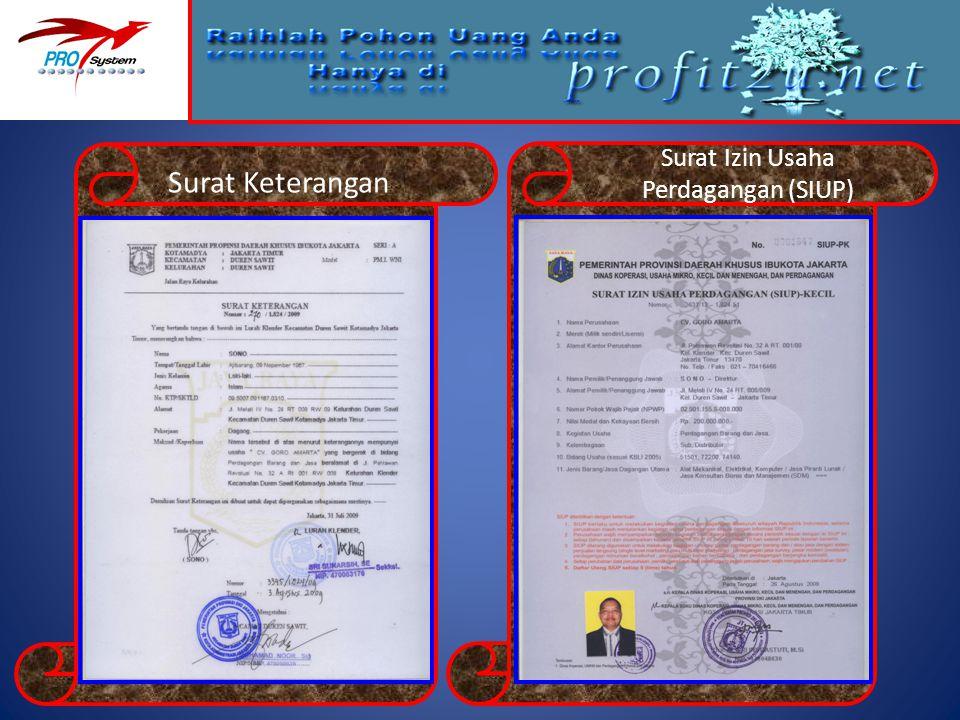 Surat Izin Usaha Perdagangan (SIUP)