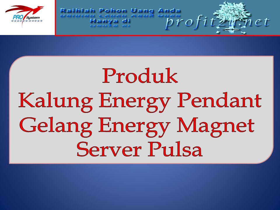 Produk Kalung Energy Pendant Gelang Energy Magnet Server Pulsa