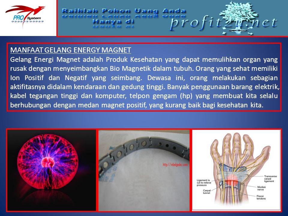 MANFAAT GELANG ENERGY MAGNET