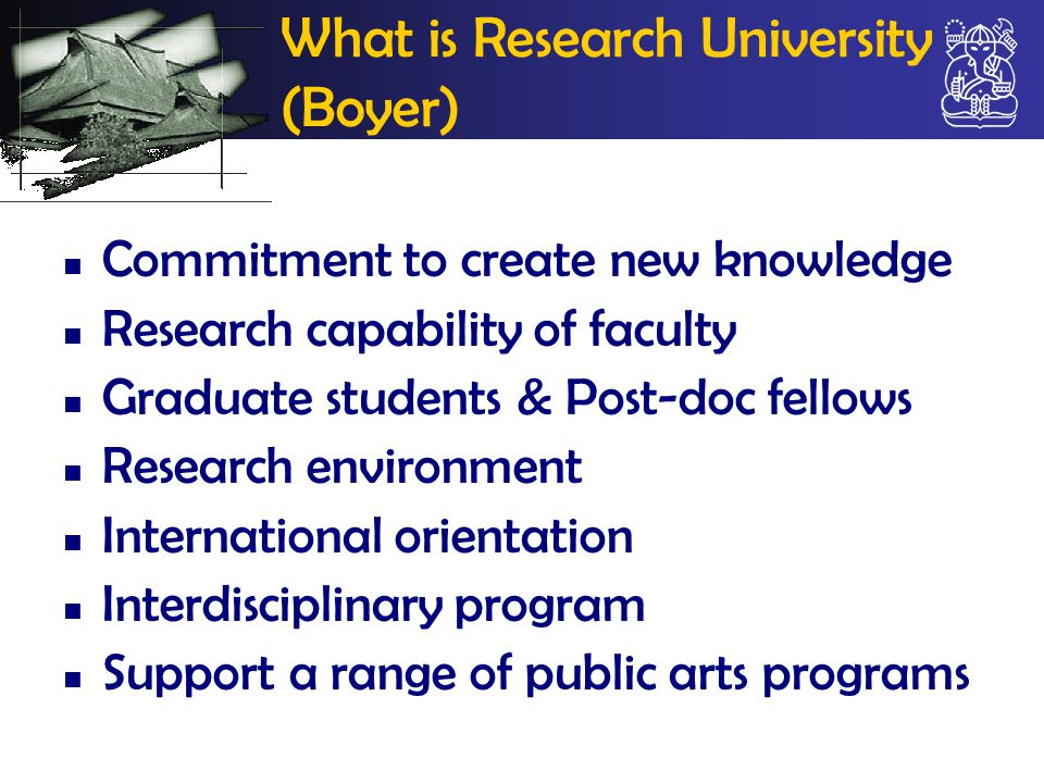 What is Research University (Boyer)