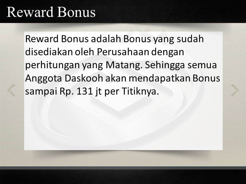 Reward Bonus