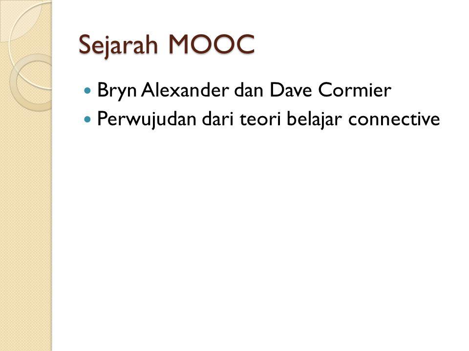Sejarah MOOC Bryn Alexander dan Dave Cormier