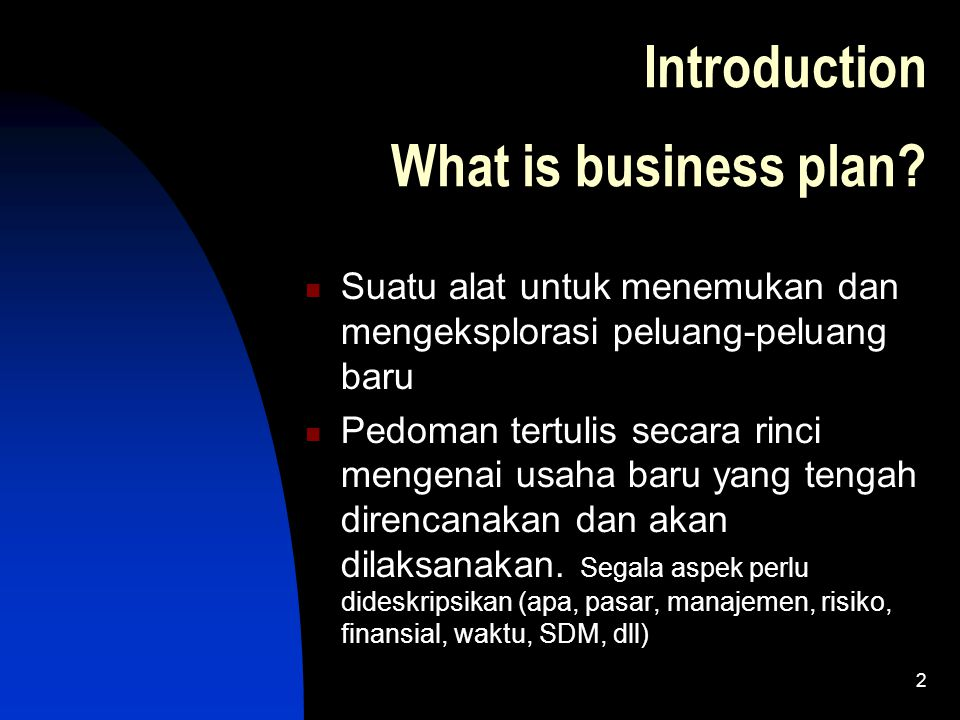 Introduction What is business plan