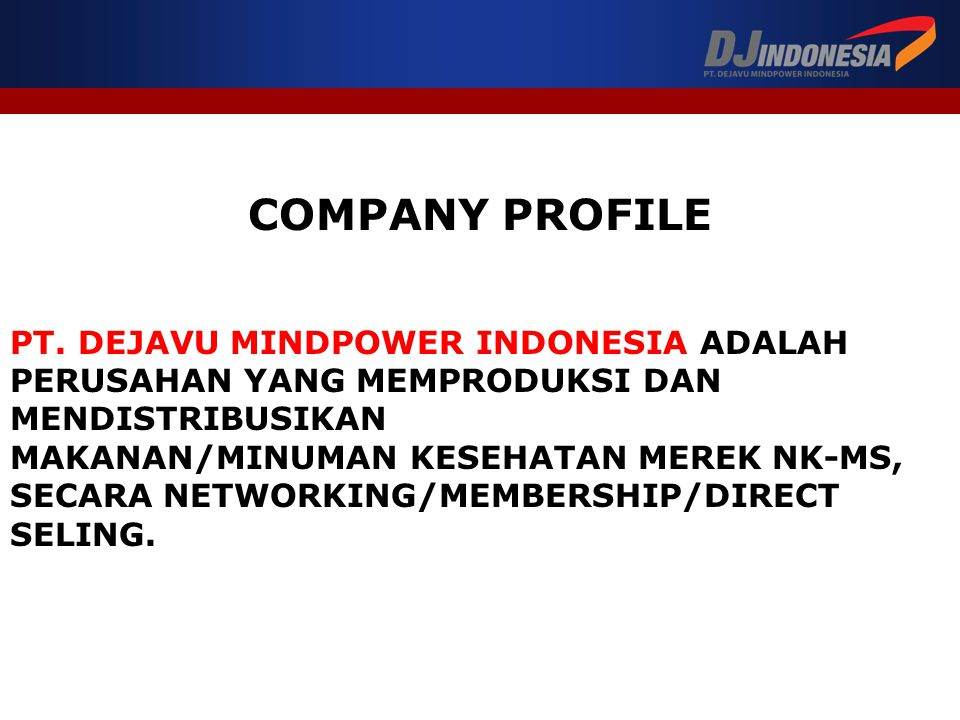 COMPANY PROFILE PT. DEJAVU MINDPOWER INDONESIA ADALAH