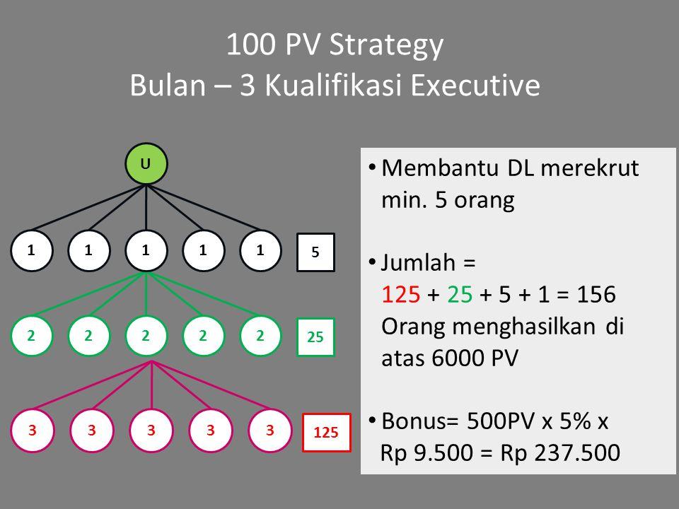 Bulan – 3 Kualifikasi Executive