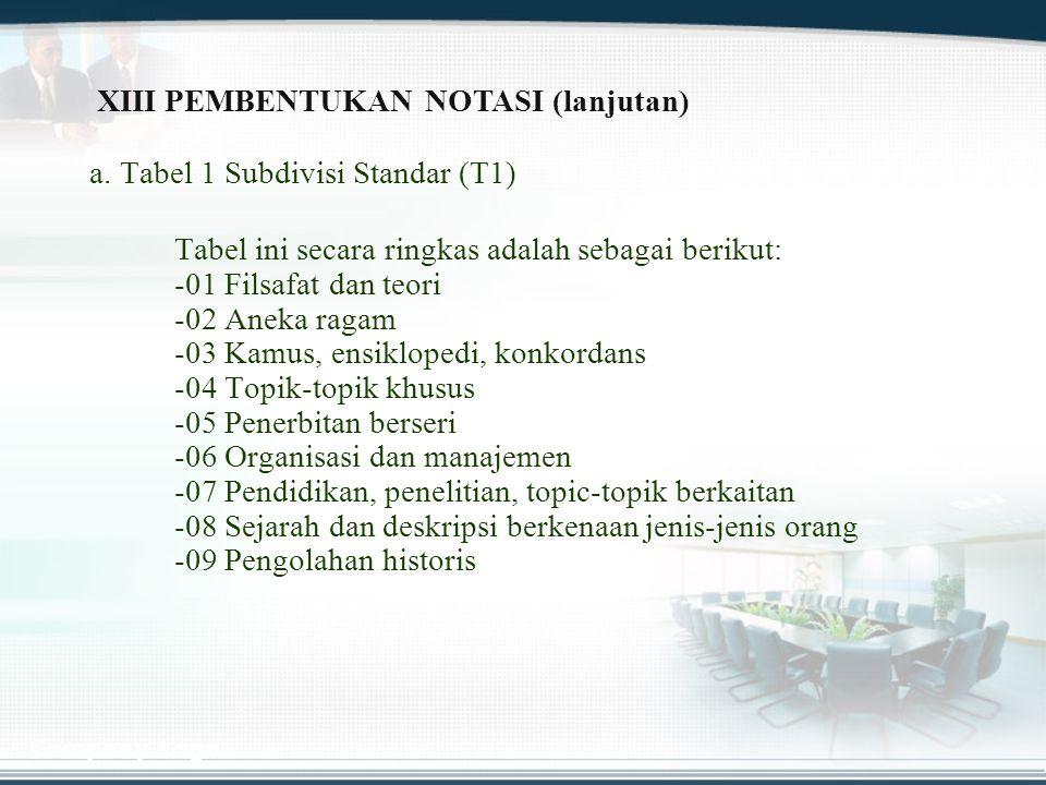 XIII PEMBENTUKAN NOTASI (lanjutan)
