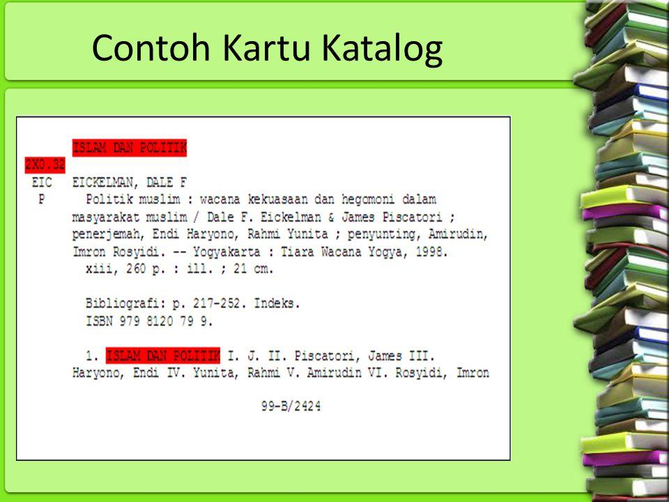 Contoh Kartu Katalog