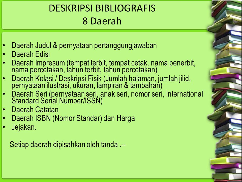 DESKRIPSI BIBLIOGRAFIS 8 Daerah