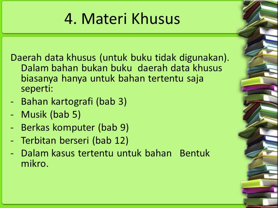 4. Materi Khusus