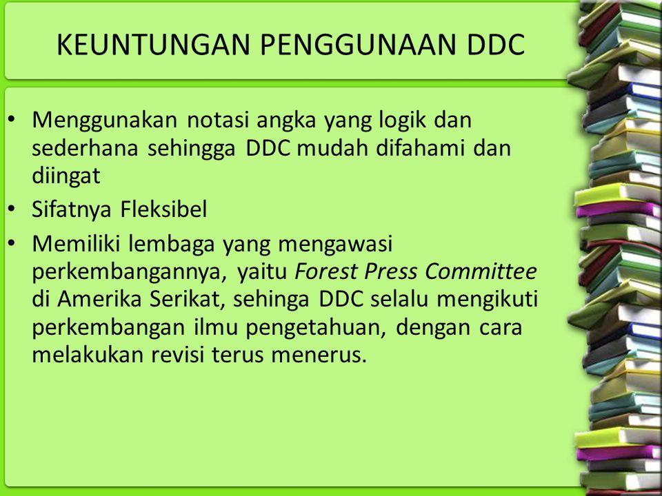 KEUNTUNGAN PENGGUNAAN DDC
