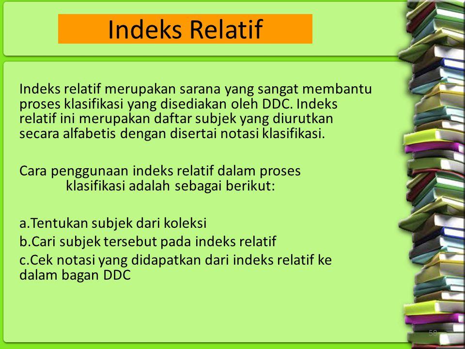 Indeks Relatif