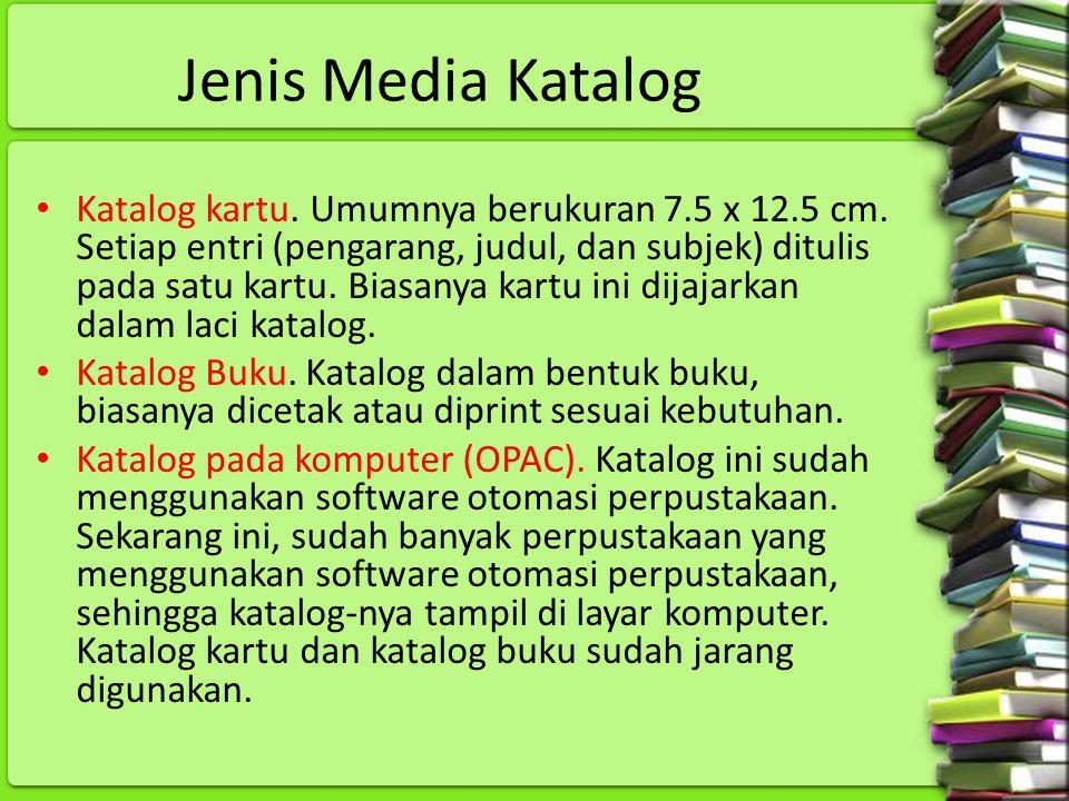 Jenis Media Katalog