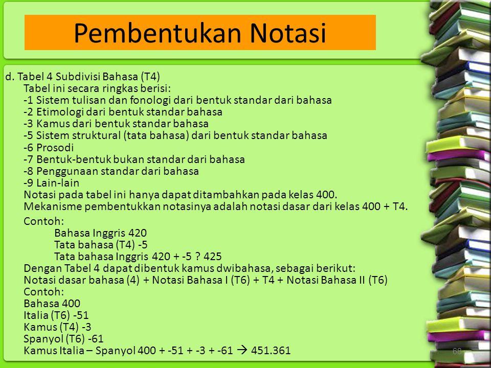 Pembentukan Notasi