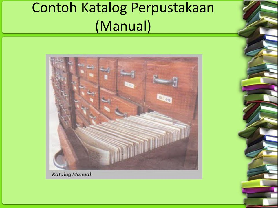 Contoh Katalog Perpustakaan (Manual)