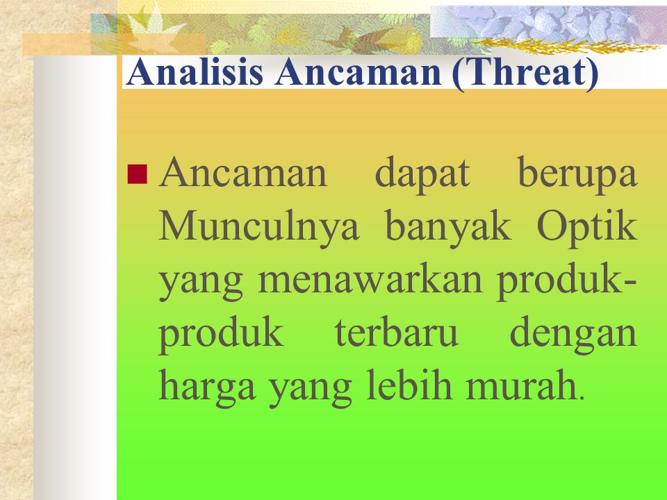 Analisis Ancaman (Threat)