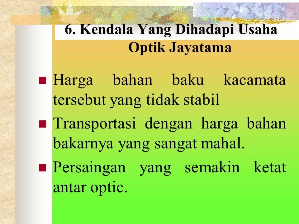 6. Kendala Yang Dihadapi Usaha Optik Jayatama