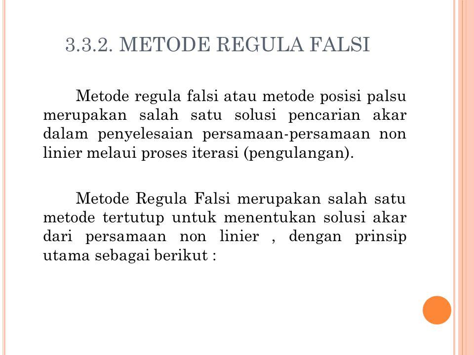 3.3.2. METODE REGULA FALSI