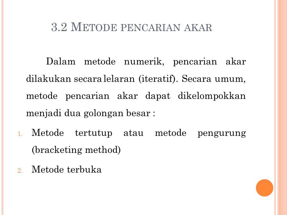 3.2 Metode pencarian akar