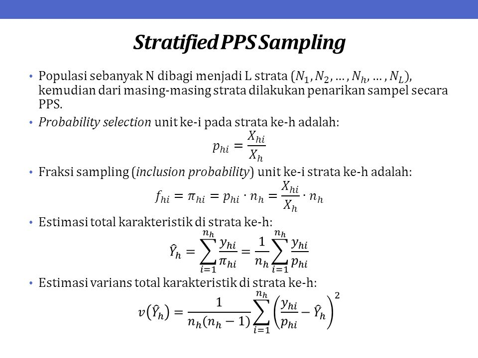Stratified PPS Sampling