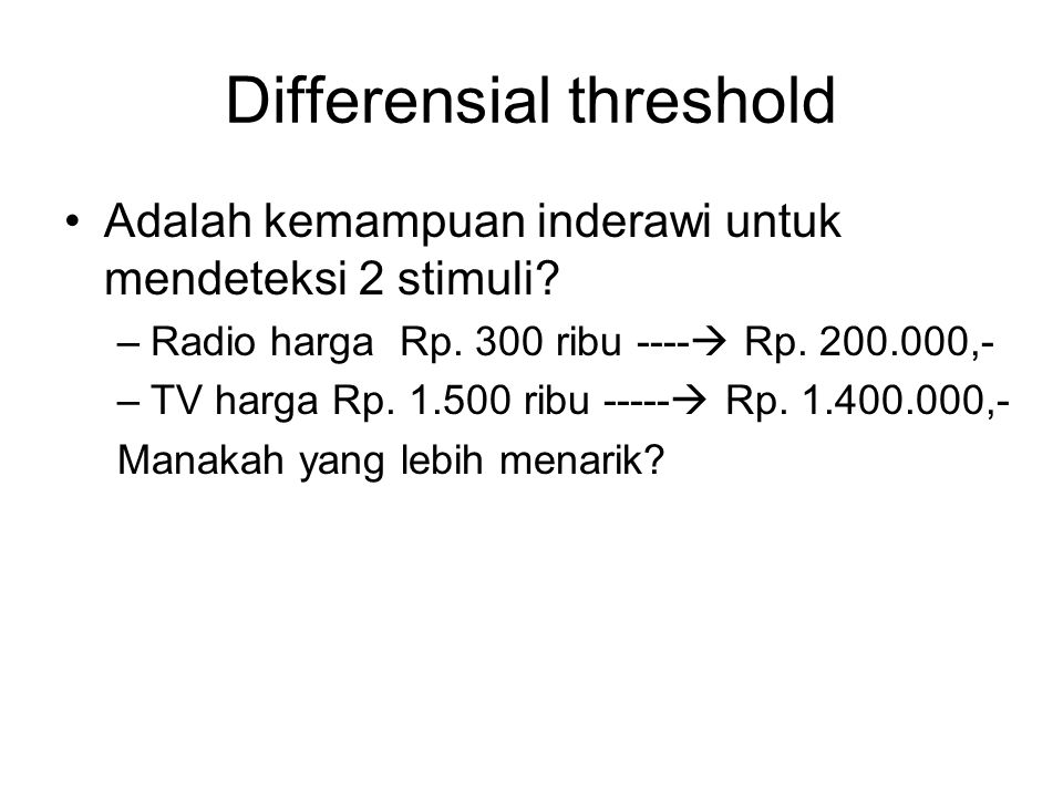 Differensial threshold