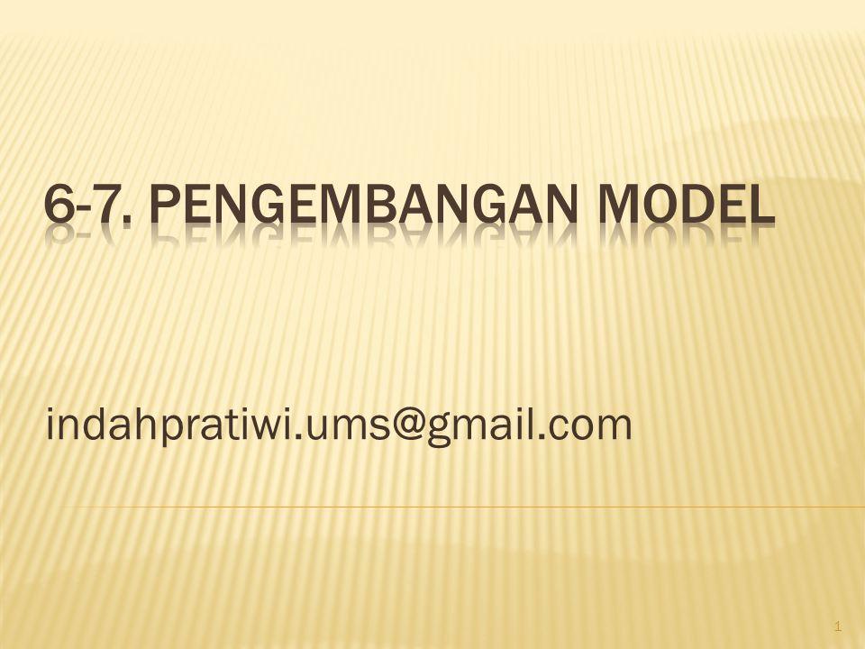 6-7. Pengembangan Model indahpratiwi.ums@gmail.com