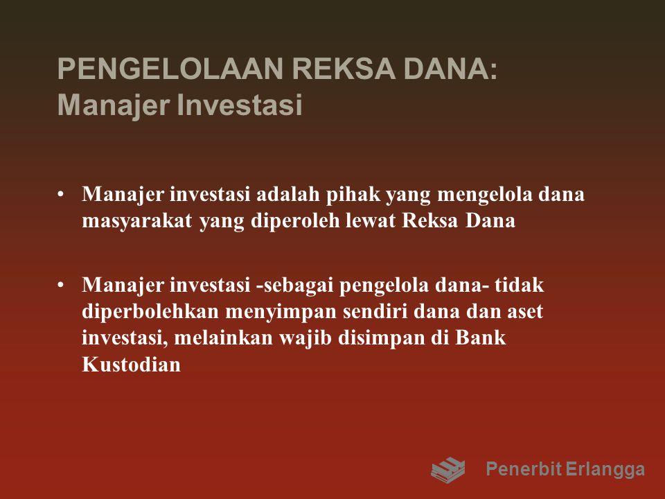 PENGELOLAAN REKSA DANA: Manajer Investasi