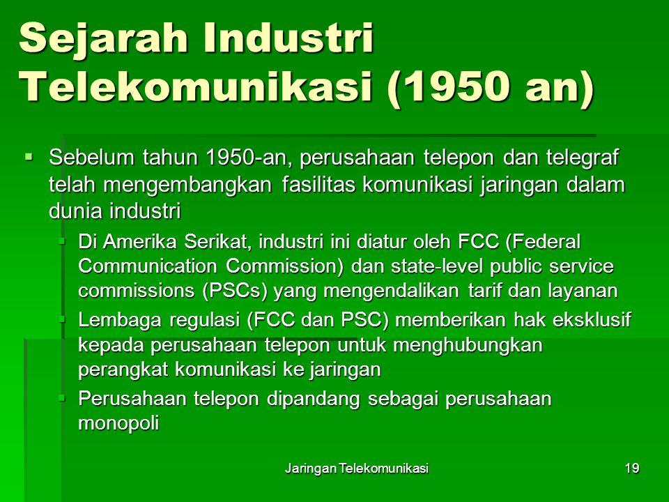 Sejarah Industri Telekomunikasi (1950 an)