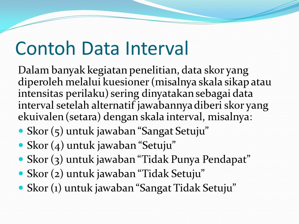 Contoh Data Interval