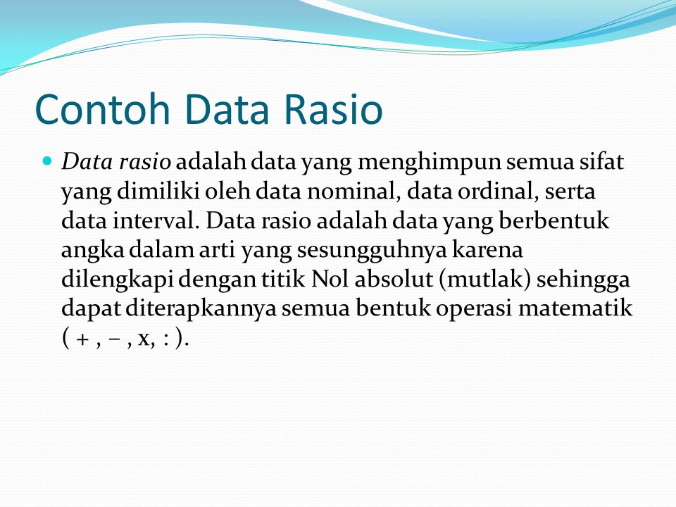 Contoh Data Rasio