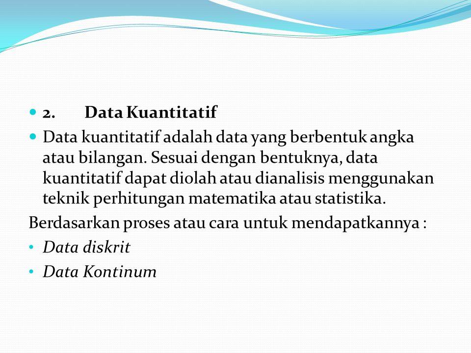 2. Data Kuantitatif
