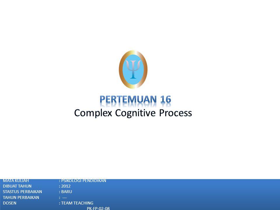 Complex Cognitive Process