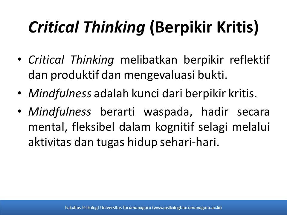 Critical Thinking (Berpikir Kritis)
