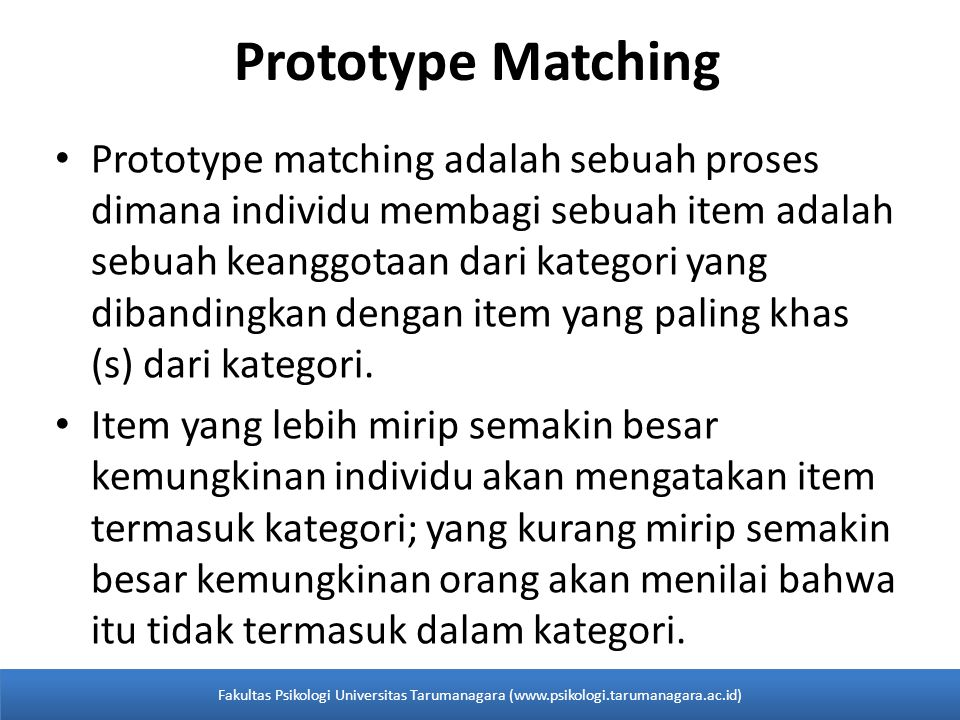 Prototype Matching