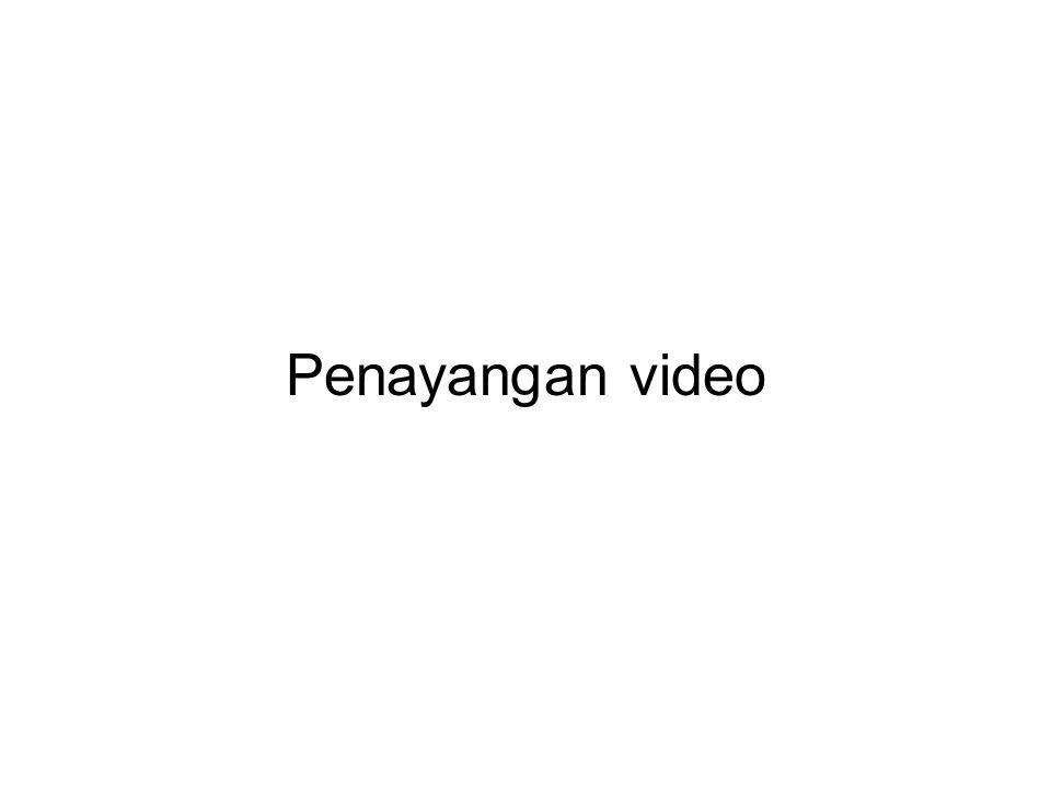 Penayangan video