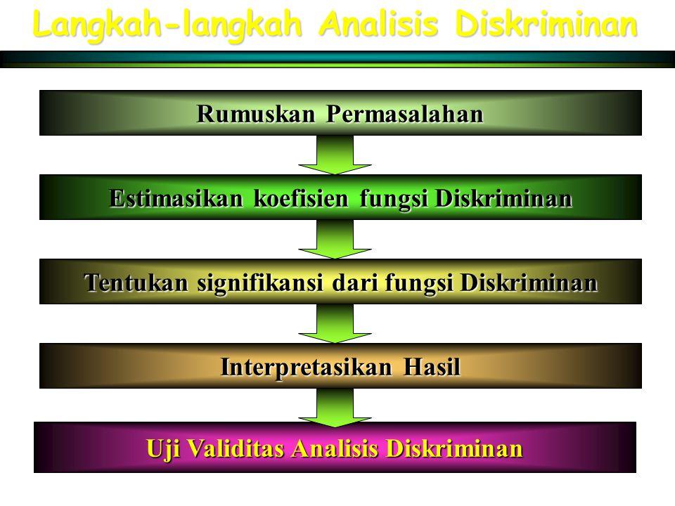 Langkah-langkah Analisis Diskriminan