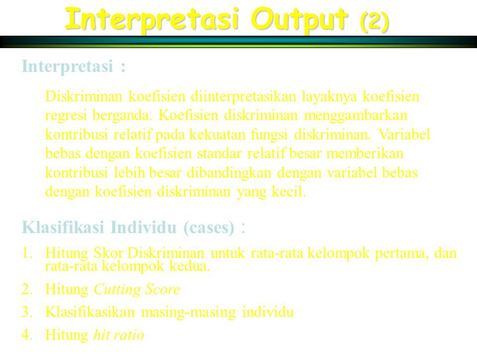 Interpretasi Output (2)