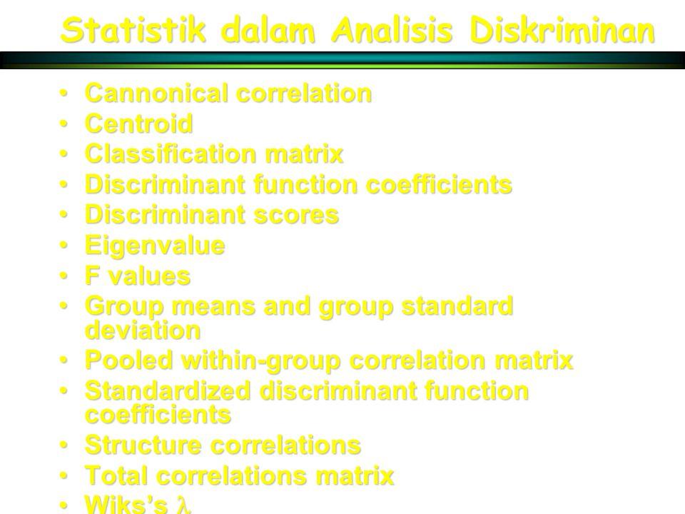 Statistik dalam Analisis Diskriminan